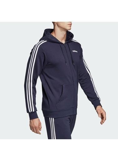 adidas Adidas Erkek Günlük Kapşonlu Eşofman Üstü Du0471 E 3S Fz Ft Siyah